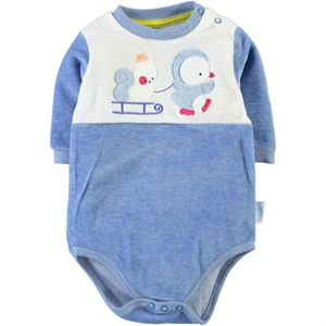 Kujju Baby Bodysuit With Snaps Blue, 12-24 Months