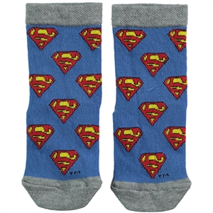 Superman Grey Ankle Socks Boy Age 3-9