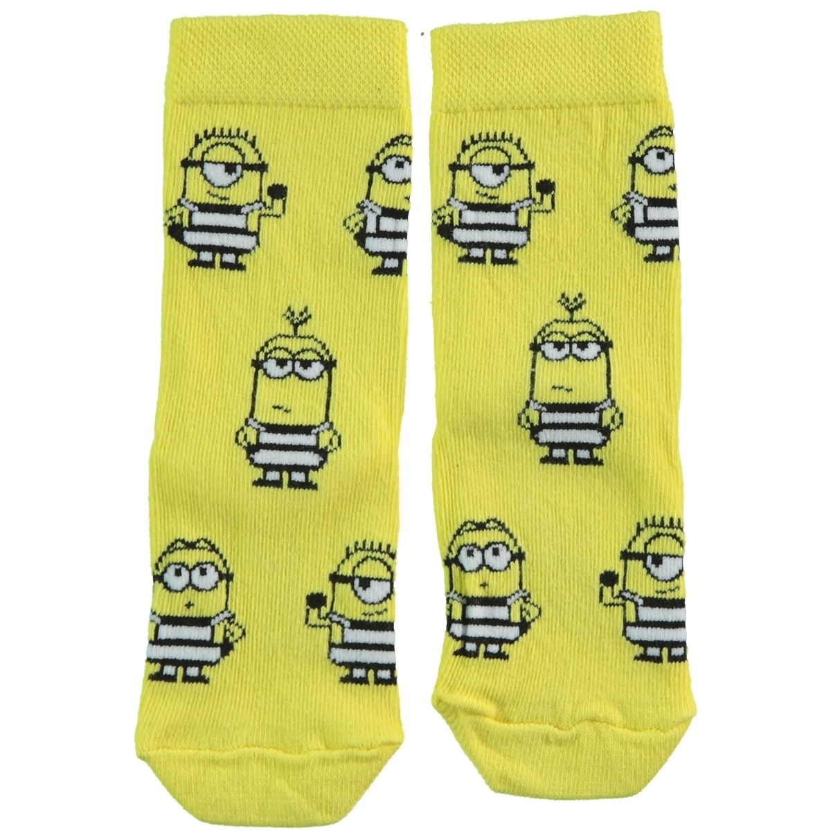 Minions Boy Socks Yellow 5-9 Age