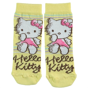 Hello Kitty 3-9 Age Girl Socks Yellow