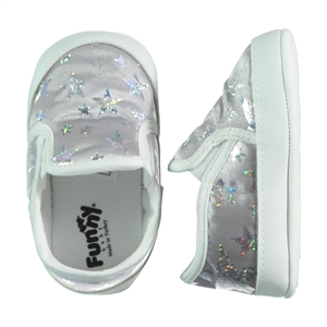Funny Baby Number 169 Silver Baby Girl Booties