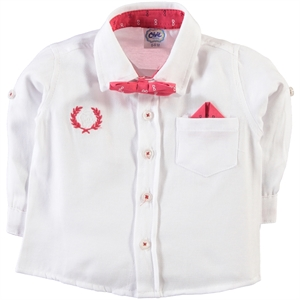 Civil Baby 6-24 Months Baby Boy White Shirt
