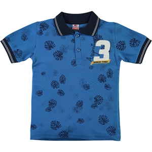 Popito Boy T-Shirt Age 6-9 Blue Saks