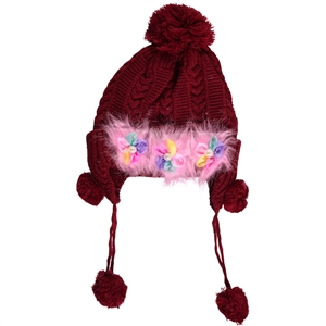 Prahar Burgundy Hat Boy Girl Ages 9-15