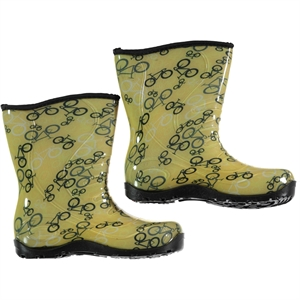 Civil Bike Boots Boy Yellow Patterned Number 30-35 (1)