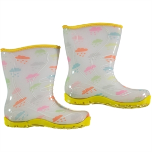 Civil Cloud-Patterned White Boots The Number Of 30-35
