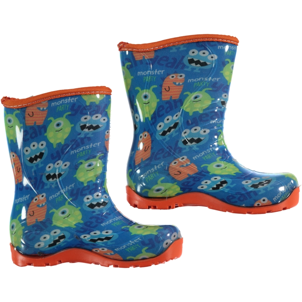 Civil Beast Boy Boots Blue Patterned Numbers 24-29