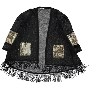 Civil Girls Cardigan For Girl Age 10-13 Black