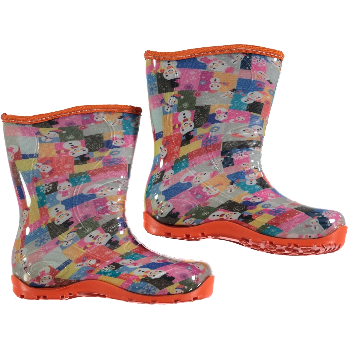 Civil The Girl The Boy The Snowman Patterned Orange Boots Number 30-35