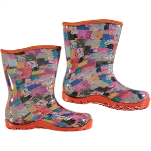 Civil The Girl The Boy The Snowman Patterned Orange Boots Number 30-35 (1)
