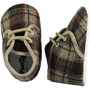 Funny Baby Brown Baby Booties For 16-19 Number