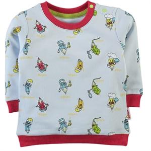 Kujju Baby Boy Sweatshirt Blue-6-18 Months