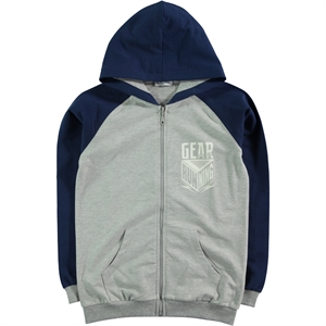 Cvl Navy Blue Hooded Cardigan Boy Age 10-13