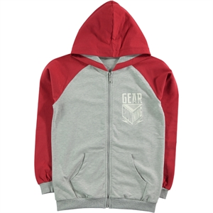Cvl The Ages Of 10-13 Boy Hooded Cardigan Burgundy
