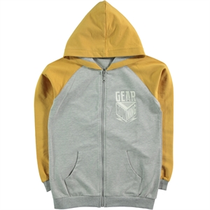Cvl Mustard Cardigan Hooded Boy Age 10-13