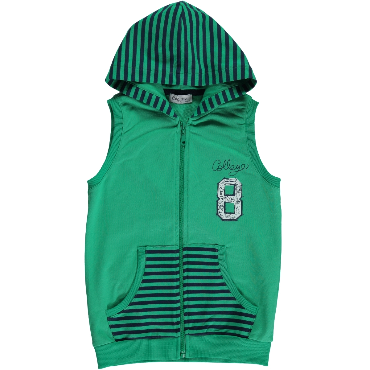 Cvl Boy Vest For 6-9 Age Yesil