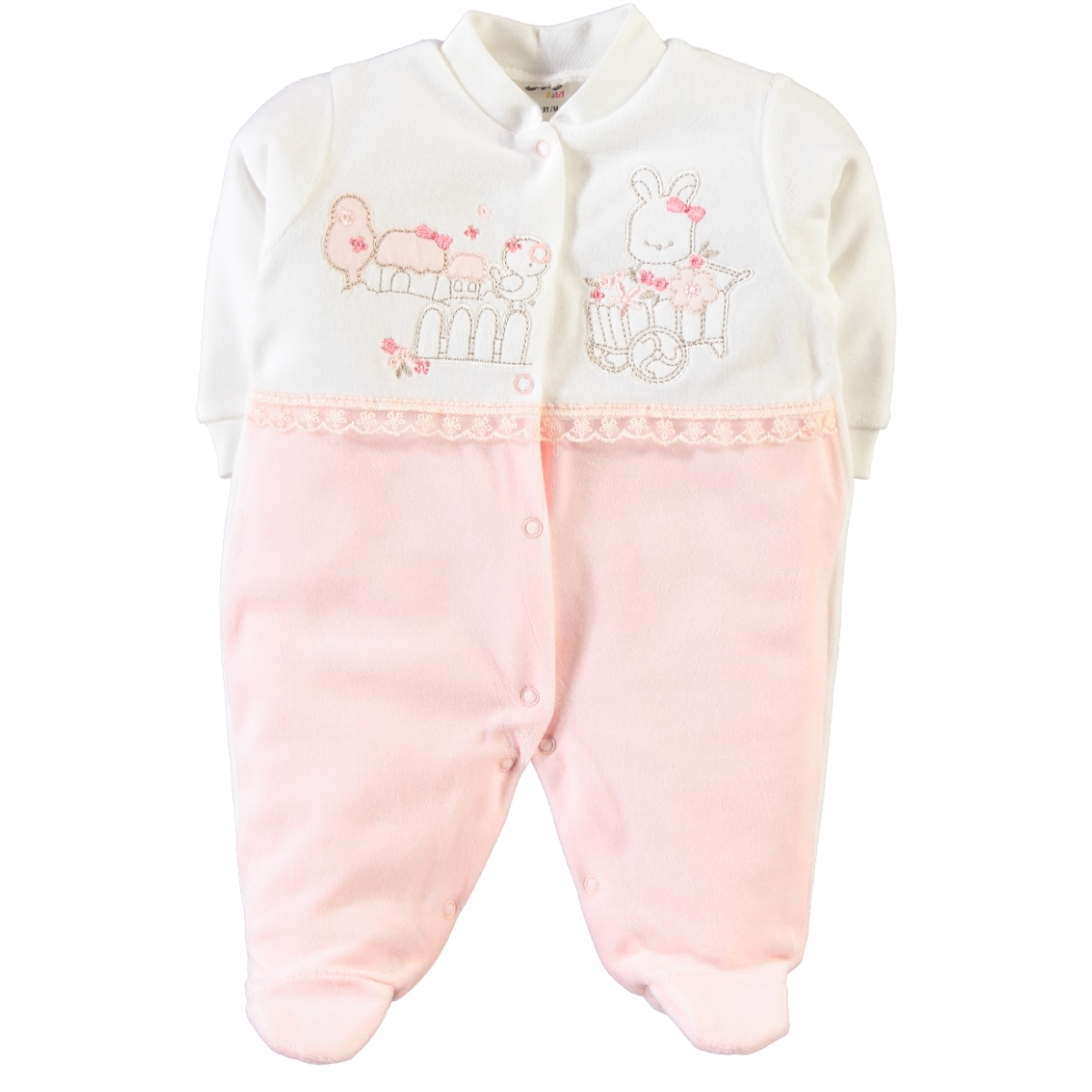 Civil Baby Salmon 0-6 Months Baby Girl Overalls