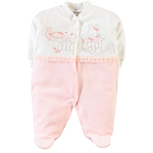 Civil Baby Salmon 0-6 Months Baby Girl Overalls (1)