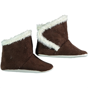First Step Brown Baby Girl Booties 17-19 Number