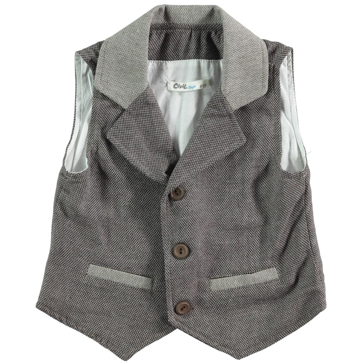 Civil Boys Brown Vest For Boy Age 6-9