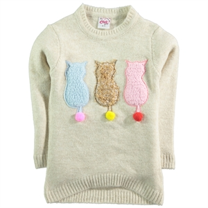 Civil Girls Beige Sweater Girl Age 6-9