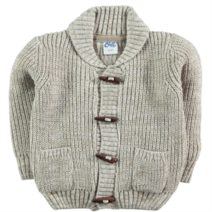 Civil Boys Boy Cardigan Beige, 2-5 Years