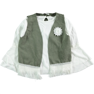 Civil Girls Khaki Vest, Shirt, Girl Child Age 10-13