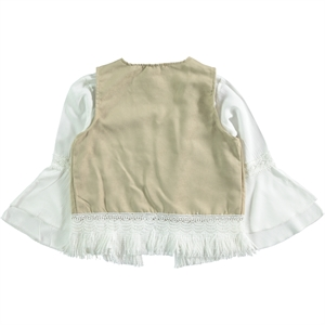 Civil Girls Beige Shirt Vest Girl Child Age 6-9 (3)