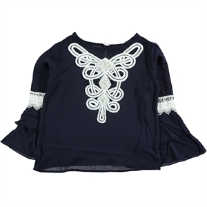 Civil Girls Age 6-9 Boy Girl Shirt Navy Blue
