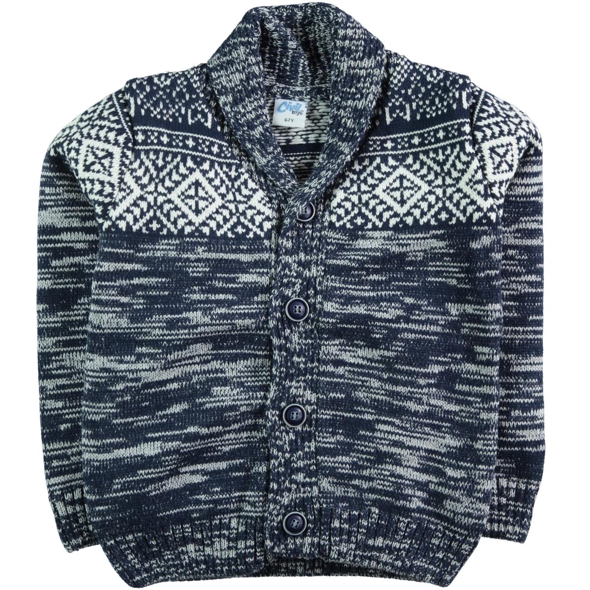 Civil Boys Age 6-9 Boy Blue Sweater