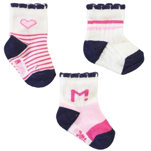 Minidamla Baby girl 3-black socks 0-3 months (1)