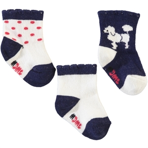 Minidamla 3 Baby Girl socks-navy blue