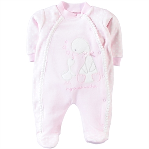 Civil Baby 0-6 Months Baby Girl Pink Overalls