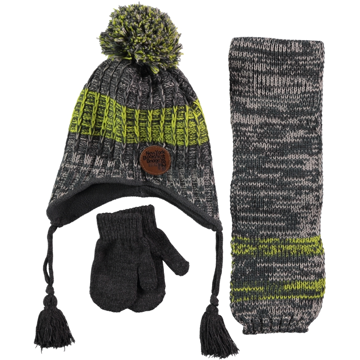 Civil Yesil Hat Gloves Scarf Set Age 1-4 Boy