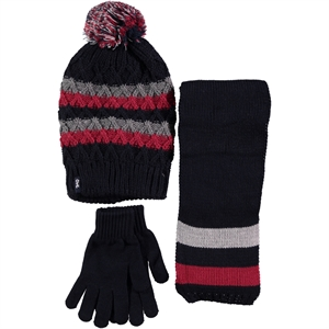 Civil Scarf Hat Gloves Set Boy Dark Blue The Ages Of 9-15 (1)