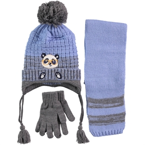 Civil Boy Hat Gloves Scarf Set Blue Ages 4-8 (1)