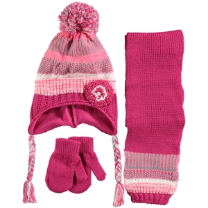 Kitti Fuchsia Scarf Hat Gloves Set Girls Age 1-4 Civil