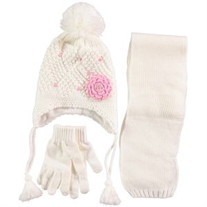 Civil Ecru Scarf Hat Gloves Set Girls Ages 4-8 (1)