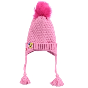 Kitti Age 1-4 Girl Boy Pink Beret (1)