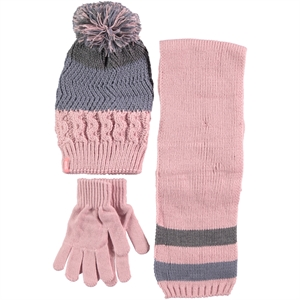 Kitti Pink Scarf Hat Gloves Set Girls Ages 9-15 (1)