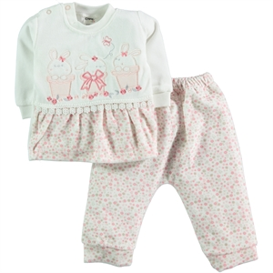 Civil Baby Salmon Suit 6-12 Months Baby Girl