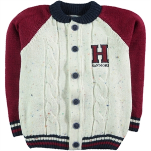 Civil Boys Burgundy Cardigan Age 6-9 Boy