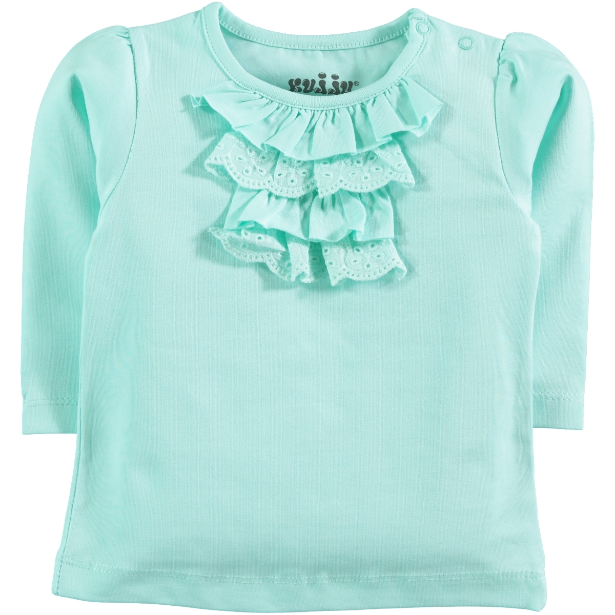 Kujju 6-18 Months Baby Girl Mint Green Sweatshirt