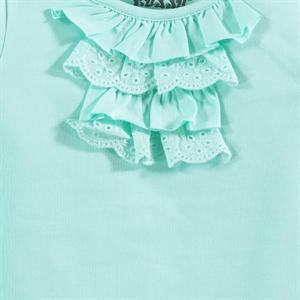 Kujju 6-18 Months Baby Girl Mint Green Sweatshirt (3)