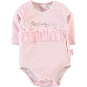 Kujju Baby Girl Bodysuit With Snaps, Pink, 3-9 Months