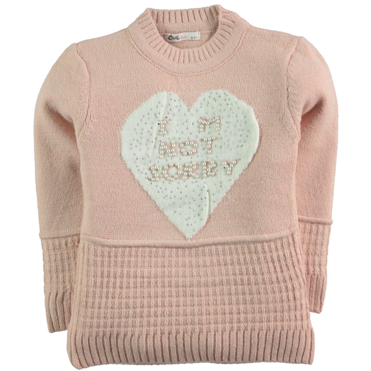 Civil Girls The Powder Pink Sweater Girl Age 6-9