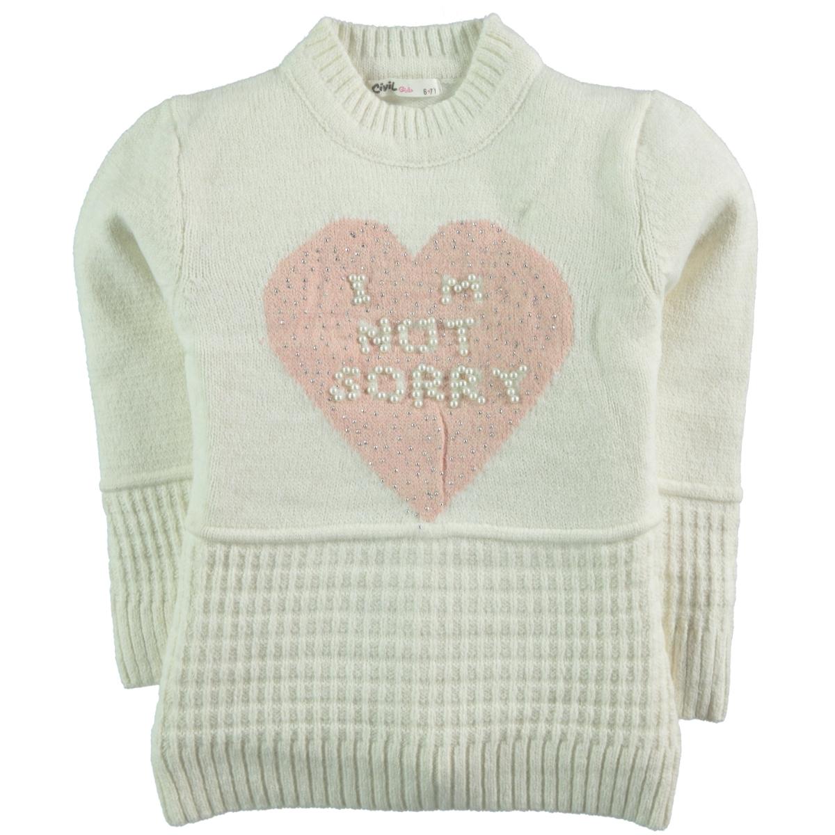 Civil Girls Ecru Sweater Girl Age 6-9