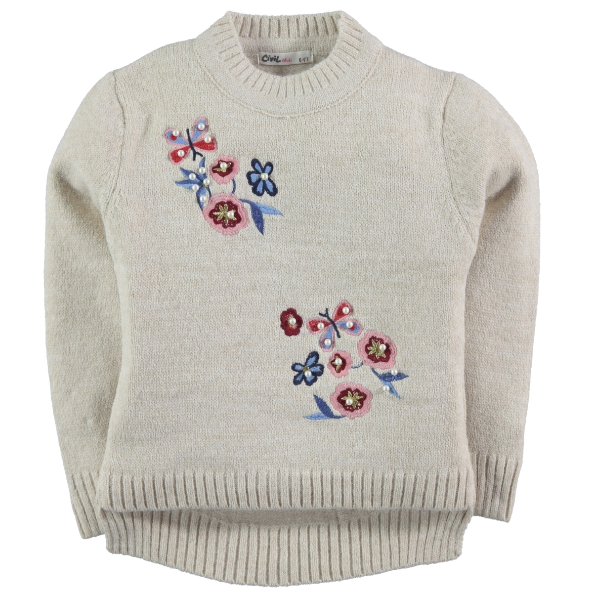 Civil Girls Beige Sweater Girl Age 6-9