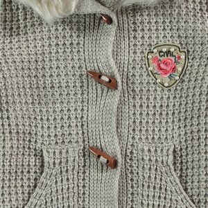Civil Girls Beige Cardigan For Girl Age 10-13 (2)