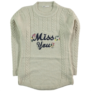 Civil Girls Beige Sweater For Girl Age 10-13